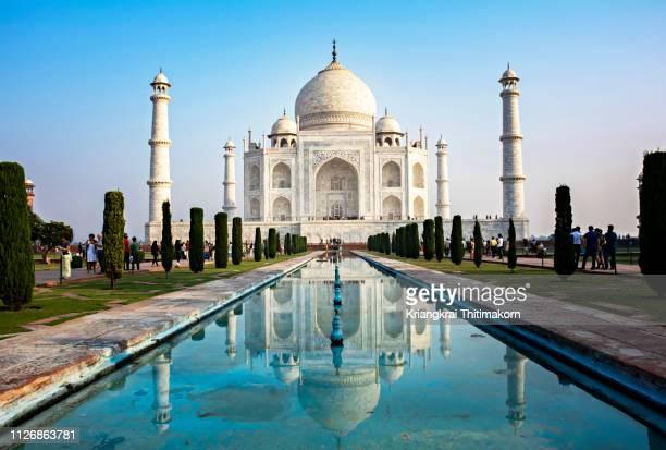 the taj magal, india. - paisajes de india fotografías e imágenes de stock