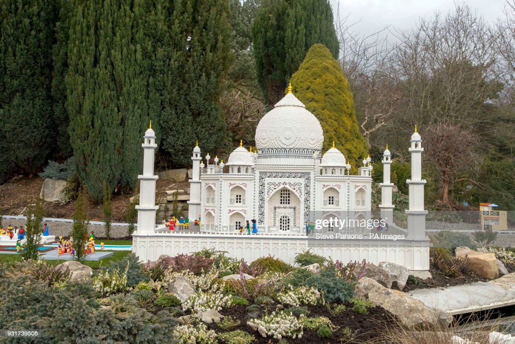 The Taj Mahal at LEGOLAND Windsor Resort as they unveil new iconic ...