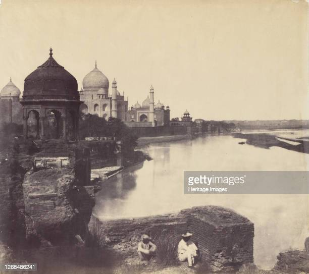 [The Taj Mahal from the Banks of the Yamuna River] 185862 Artist John Murray