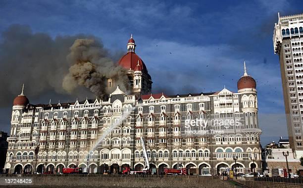 The Taj Mahal Hotel after fire was doused on November 27 2012 in Mumbai India 7 strategic locations across the South Mumbai are attacked...