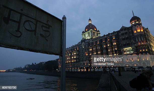 The Taj Mahal hotel is fully litup for the first time after the Mumbai attacks December 21 2008 reopened on Sunday