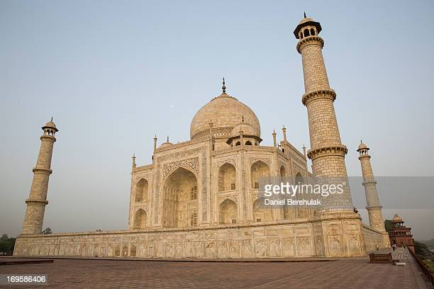 The Taj Mahal is seen from the East on May 28 2013 in Agra India Completed in 1643 the mausoleum was built by the Mughal emperor Shah Jahan in memory...
