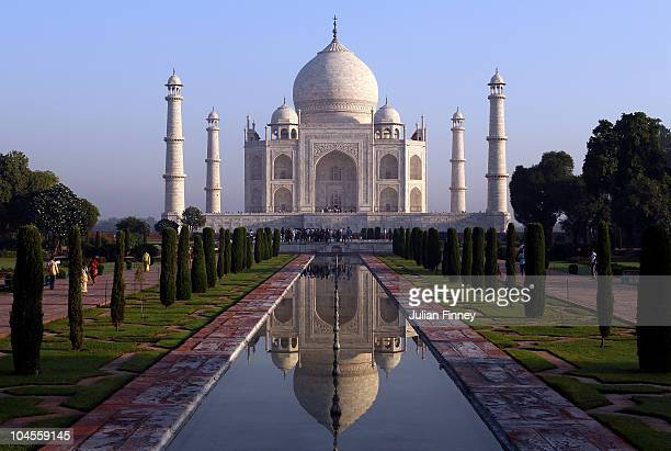 The Taj Mahal is seen on September 30 2010 in Agra India Completed in 1643 the mausoleum was built by th Mughal emperor Shah Jahan in memory of his...