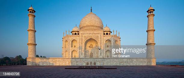 The Taj Mahal mausoleum eastern view Uttar Pradesh India