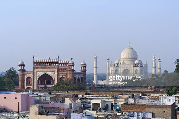 the taj mahal - agra stock pictures, royalty-free photos & images
