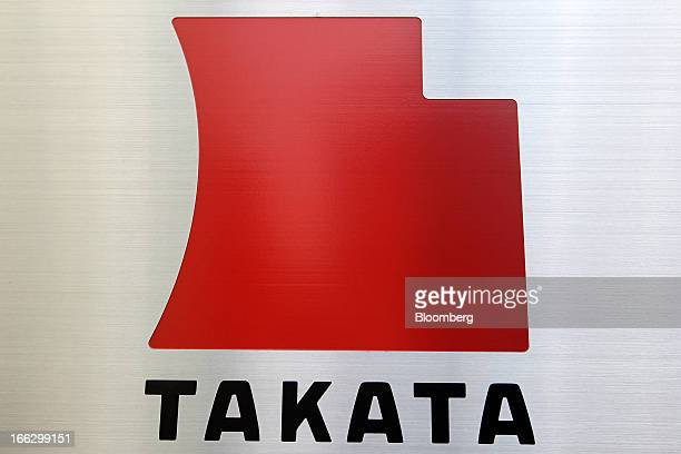 The Takata Corp logo is displayed outside the company's headquarters in Tokyo Japan on Thursday April 11 2013 Takata Corp faces its biggest recall...