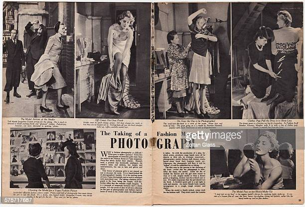 'The Taking Of A Fashion Magazine Photograph' A feature in the 26th October 1940 edition of Picture Post magazine following the progress of a fashion...