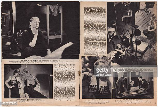 'The Taking Of A Fashion Magazine Photograph' - A feature in the 26th October 1940 edition of Picture Post magazine following the progress of a...