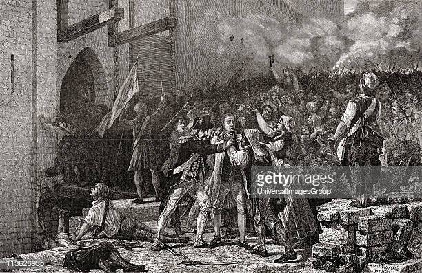 The taking of the Bastille 14th July 1789Engraved by PannemakerLigny after De La Charlerie From 'Histoire de la Revolution Francaise' by Louis Blanc