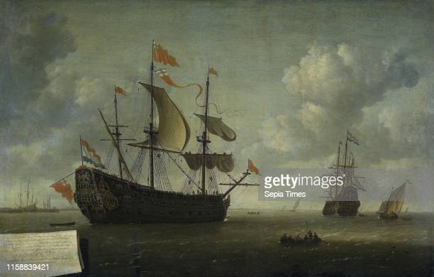 The Taking of the English Flagship The Royal Charles during the Expedition to Chatham June 1667 Jeronymus van Diest 1667 1672