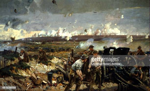The Taking of Vimy Ridge 1917 Painted Richard Jack the official Canadian war artist