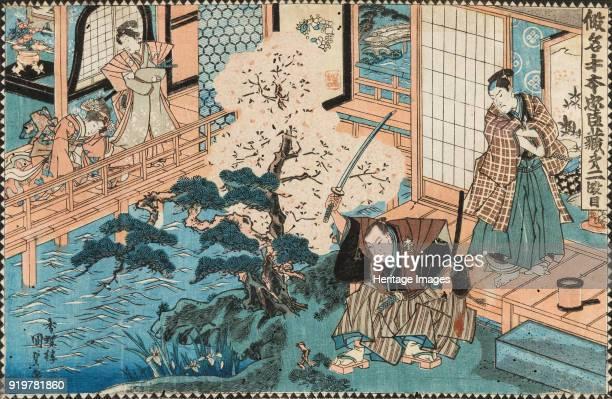 The Tale of the Fortyseven Ronin Kakogawa Honzo and Momonoi Wakasanosuke circa 1850 Private Collection