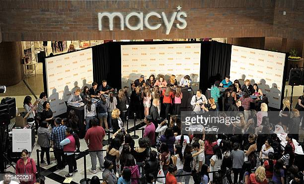 The talented emerging ensemble cast of Walt Disney Pictures' Prom meet fans and sign autographs at a special event hosted by Macy's at the Glendale...