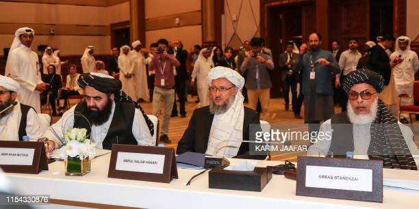 the Taliban's former culture and information minister Amir Khan Mutaqi former deputy education minister Abdul Salam Hanafi and Taliban negotiator...