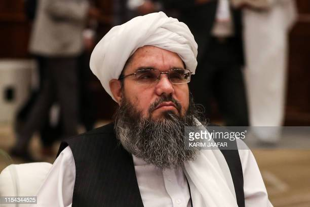 The Taliban's former envoy to Saudi Arabia Shahabuddin Delawar attends the Intra Afghan Dialogue talks in the Qatari capital Doha on July 7 2019...