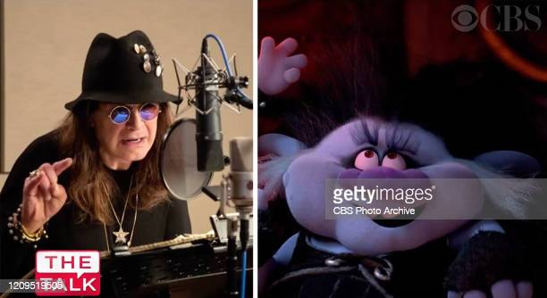"""The Talk,"""" April 7, 2020 on the CBS Television Network. Ozzy Osbourne Image is a screen grab."""