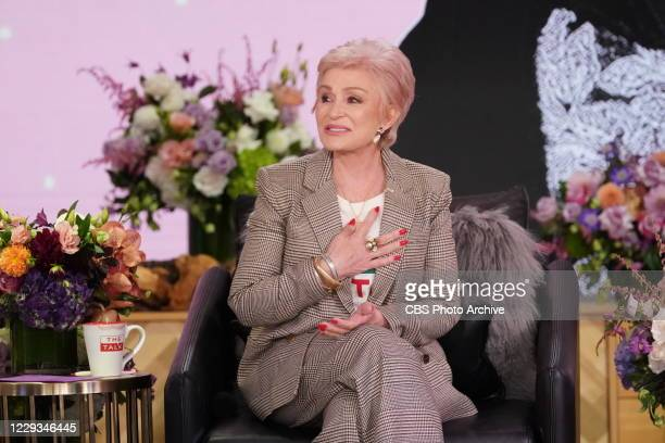 """The Talk,"""" October 9, 2020 on the CBS Television Network. Sharon Osbourne shown."""