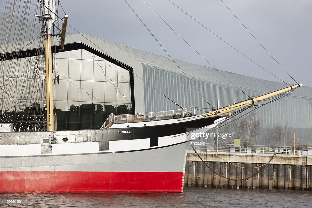 The Tall Ship Glenlee and Riverside Museum, Glasgow : Stock Photo