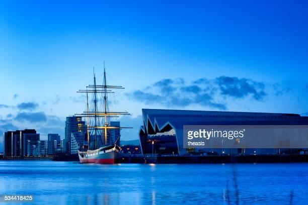 Le Tall Ship Glenlee et de Riverside Museum, à Glasgow