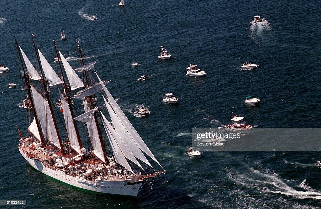 Tall Ship Stops At Newport During Summer Voyage : News Photo