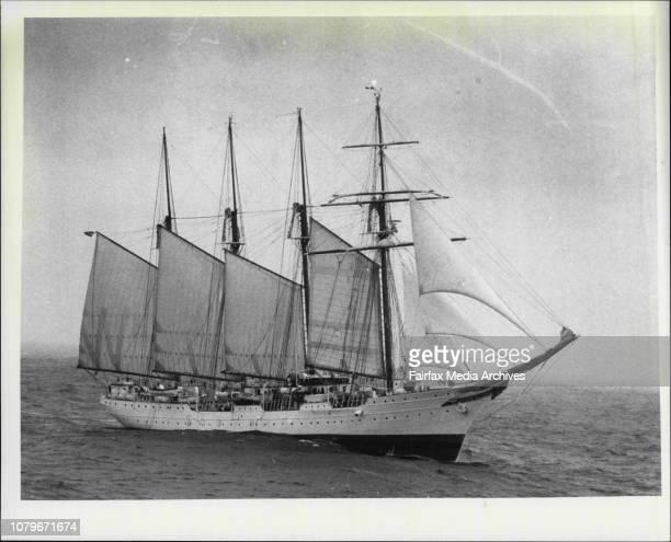 The Tall ships race of the coast of TasmaniaJuan Sebastian De Elcano January 16 1988
