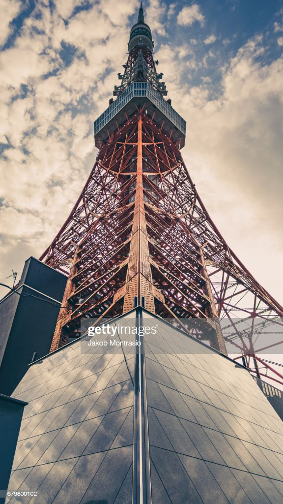 The tall Tokyo TV Tower : Stock Photo