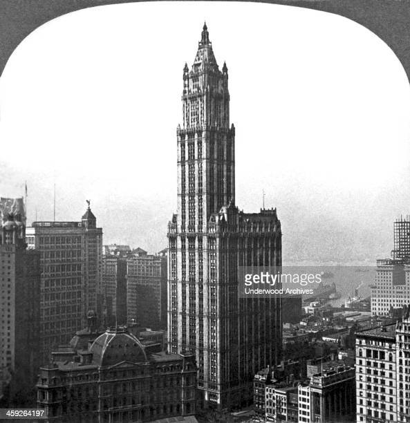 The tallest building in the world is the 'Cathedral of Commerce' the Woolworth Building in New York City New York New York circa 1915