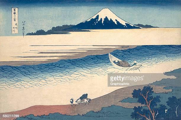 The Tama River in Musashi Province by Katsushika Hokusai 182329 Print from the series Fugaku sanjurokkei