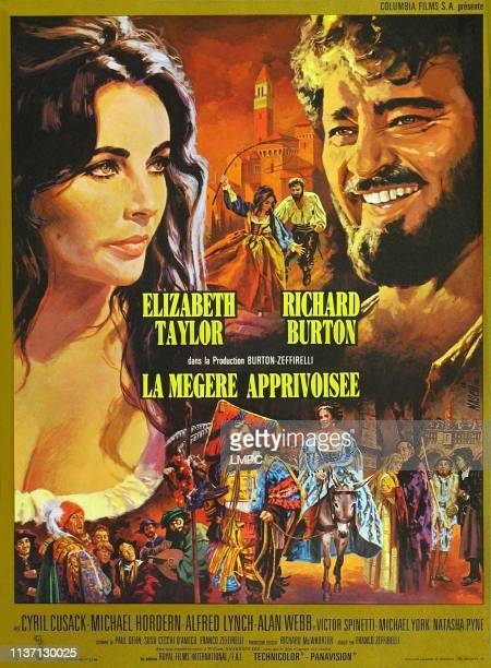 The Taming Of The Shrew poster top from left Elizabeth Taylor Richard Burton bottom from left Cyril Cusack Alfred Lynch Roy Holder Michael Hordern...