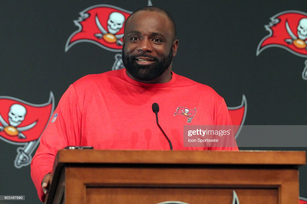 NFL: FEB 21 Buccaneers Brentson Buckner Press Conference