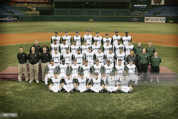 The Tampa Bay Devil Rays pose for a team photo at Tropicana Field in Tampa Bay Florida on June 2 2007