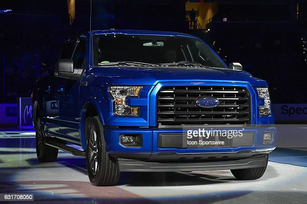 The Tampa Bay Lightning give a new Ford Truck to Martin St Louis as a gift during the pregame ceremony honoring the jersey retirement of Martin St...