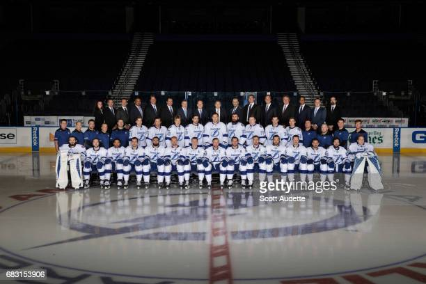 The Tampa Bay Lightning pose for their 201617 team photo on March 27 2017 at Amalie Arena in Tampa Florida