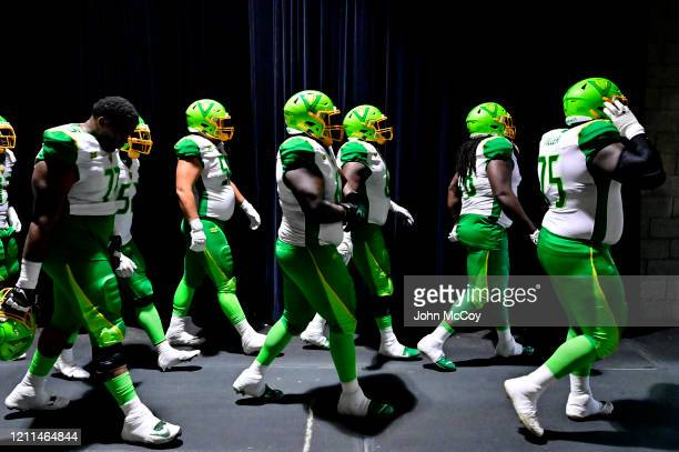The Tampa Bay Vipers walk out to play the LA Wildcats at Dignity Health Sports Park during an XFL game on March 8 2020 in Carson California LA won...