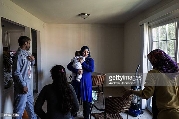 The Tanbal family and the Haj Kalif family meet for the first time on July 26 2015 in the Haj Kalif family's new home in Bloomfield Hills Michigan...