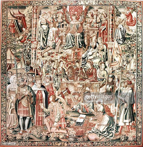 The tapestry Bouche dOr becomes the vassal of Amour from the series The Romaunt of the Rose Based on the homonymous poem it tells of a young mans...