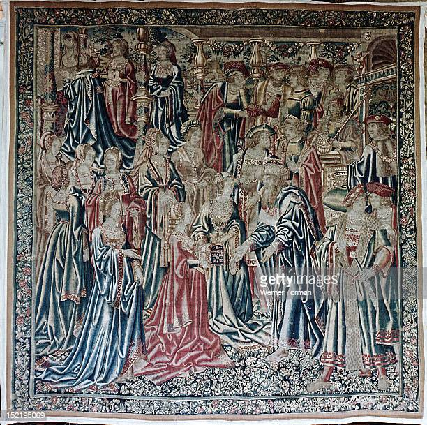 The tapestry Medea Bearing Gifts to Creon from the series The Story of Jason The subject is based on Ovids Metamorphoses In centre of the tapestry...