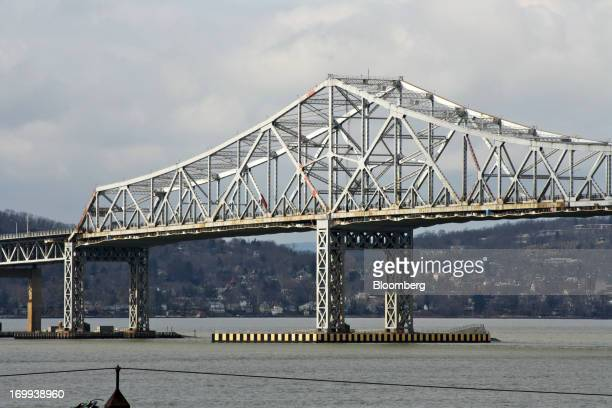 The Tappan Zee Bridge stands in New York US on Sunday Feb 24 2013 The State of New York plans to replace the threemile 1955 span because it is jammed...