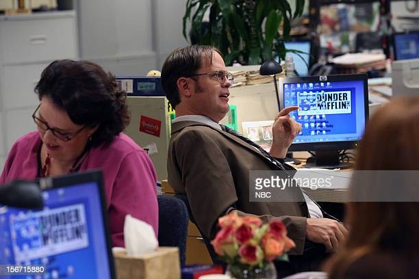 THE OFFICE The Target Episode 909 Pictured Phyllis Smith as Phyllis Vance Rainn Wilson as Dwight Schrute