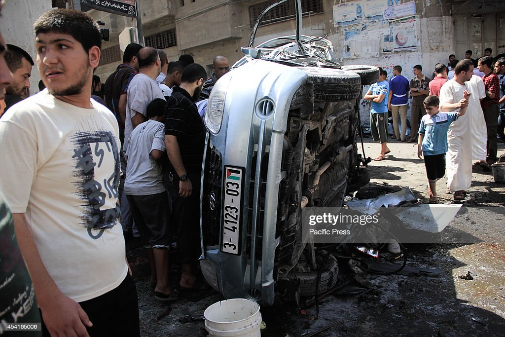 the targeting of a civilian car on a street in gaza killing