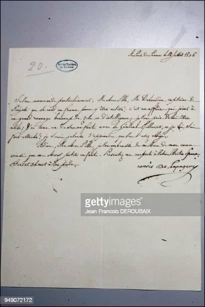The Tascher de la Pagerie family archives A letter from Josephine's mother to her daughter from the days when she was married to Alexandre de...