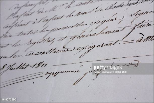 The Tascher de la Pagerie family archives A letter signed by Josephine