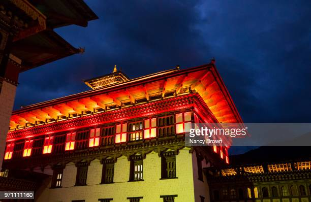 The Tashichoe Dzong in Thimphu in Bhutan.