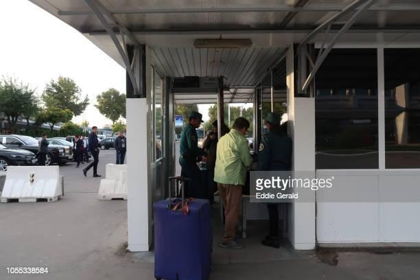 The Tashkent airport in Uzbekistan