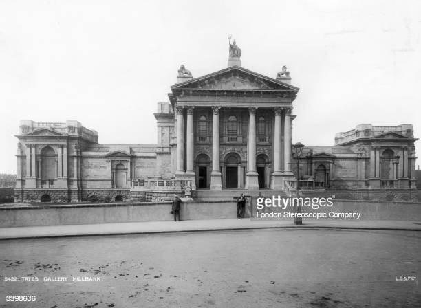 The Tate Gallery in Millbank opened in 1897 and now known as the Tate Britain Pictured circa 1900