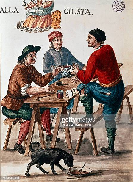 The tavern by Jan Grevenbroeck engraving Italy 18th century