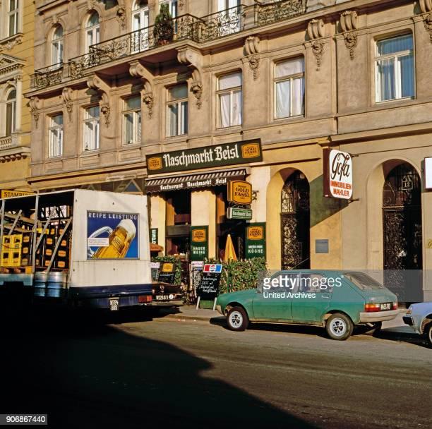 The tavern Naschmarkt Beisl at the Vienna Naschmarkt Vienna Austria 1980s