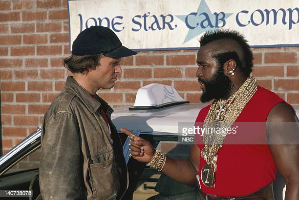 TEAM The Taxicab Wars Episode 7 Pictured Dwight Schultz as Capt HM Howling Mad Murdock Mr T as Sgt Bosco BA Baracus Photo by NBCU Photo Bank