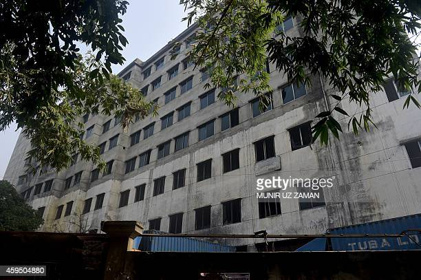 The Tazreen garment factory is seen ahead of the twoyear anniversary of a fire there in Savar some 30 kms north of the Bangladesh capital Dhaka on...