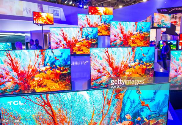 The TCL booth at the CES show in Las Vegas CES is the world's leading consumerelectronics show